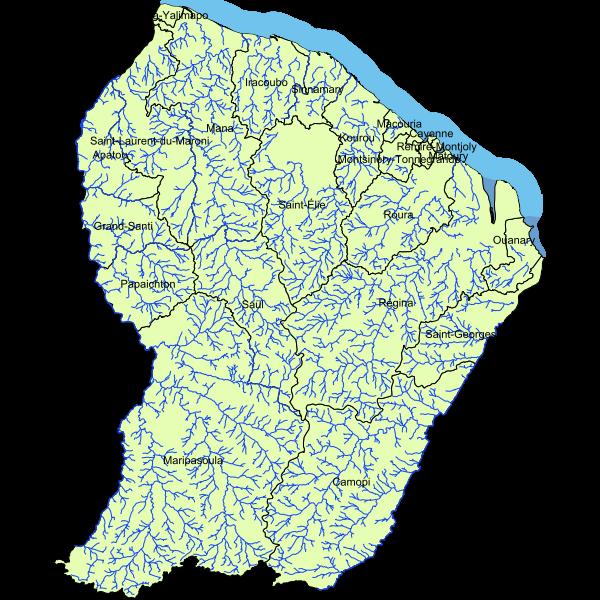 Masse d'eau en Guyane